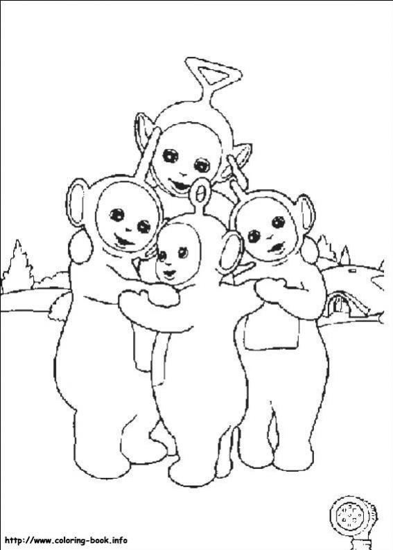ภาพวาดระบายสีTeletubbies เทเลทับบีส์ 11