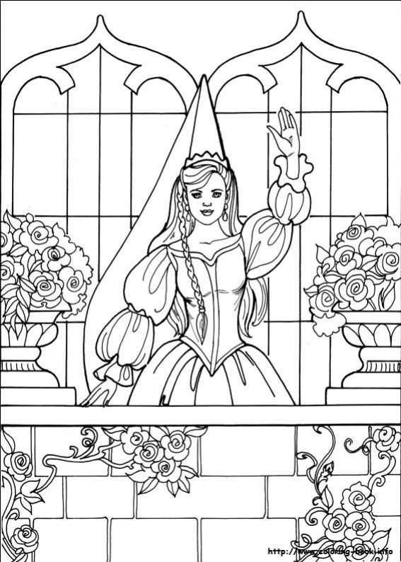 ภาพวาดระบายสีPrincess Leonora 25