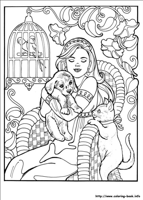 ภาพวาดระบายสีPrincess Leonora 5