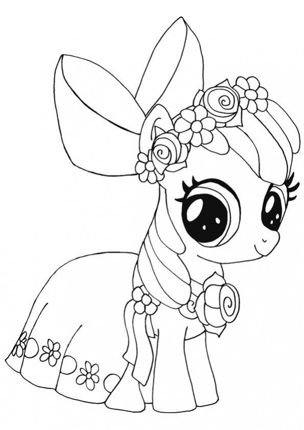 ภาพระบายสี My Little Pony มายลิตเติ้ลโพนี่ ม้าน้อยโพนี่ ...