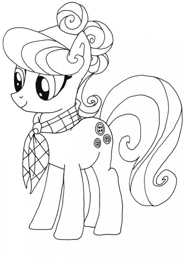 ภาพระบายสี My Little Pony มายลิตเติ้ลโพนี่ ม้าน้อยโพนี่