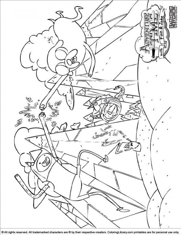 ภาพวาดระบายสีAdventure Time 26