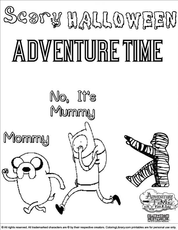 ภาพวาดระบายสีAdventure Time 20