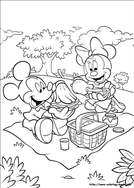 ภาพวาดระบายสีมินนี่ เมาส์ 28