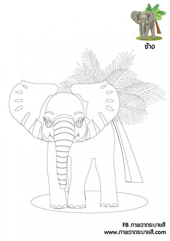 ภาพวาดระบายสีช้าง