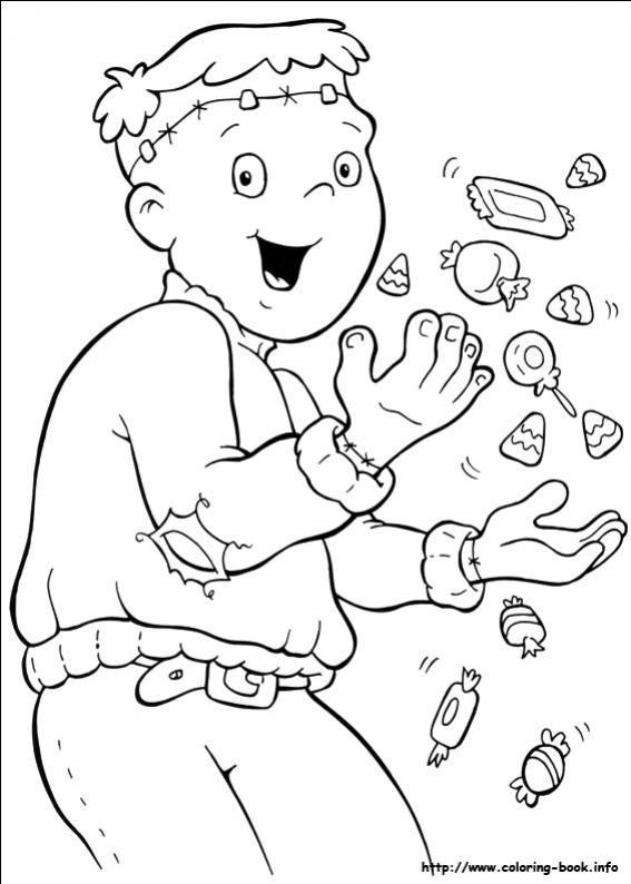 ภาพวาดระบายสีการ์ตูนซอมบี้
