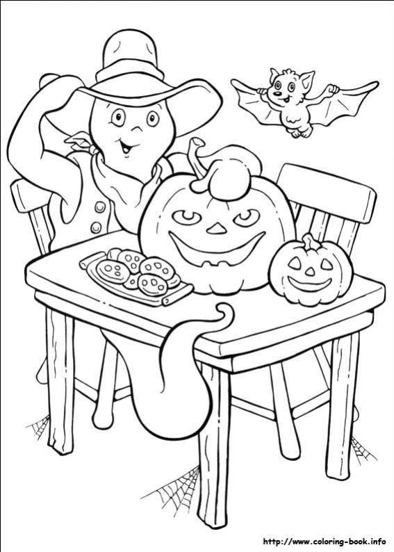ภาพวาดระบายสีการ์ตูนผีฮาโลวีน