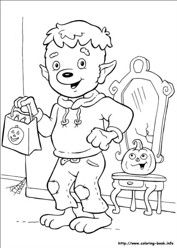 ภาพวาดระบายสีเด็กแต่งตัวเป็นผี