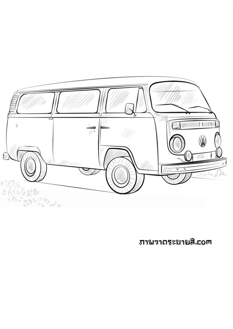 ภาพวาดระบายสีรถตู้โฟล์ค