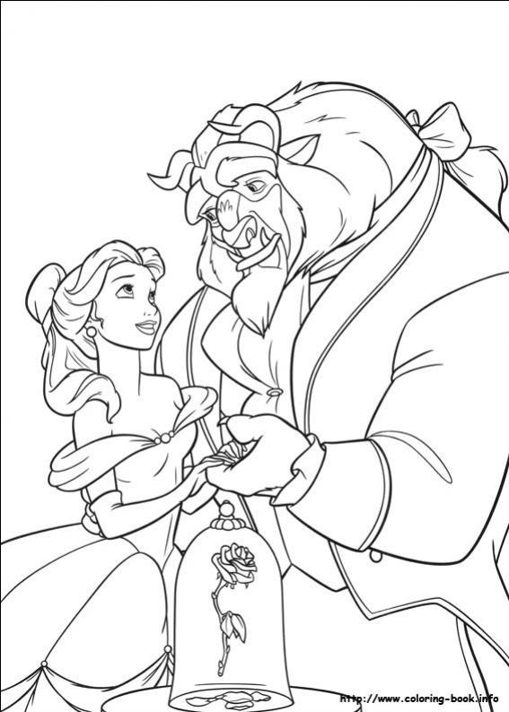 ภาพวาดระบายสีbeauty and the beast 33