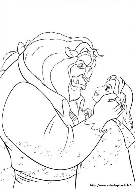 ภาพวาดระบายสีbeauty and the beast 30