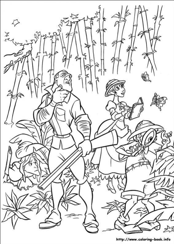 ภาพวาดระบายสีTarzan-6