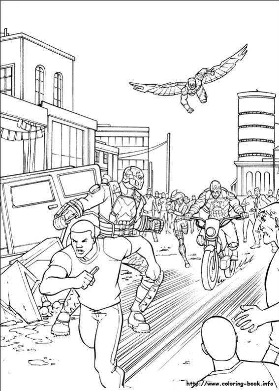 ภาพวาดระบายสีCaptain America 35