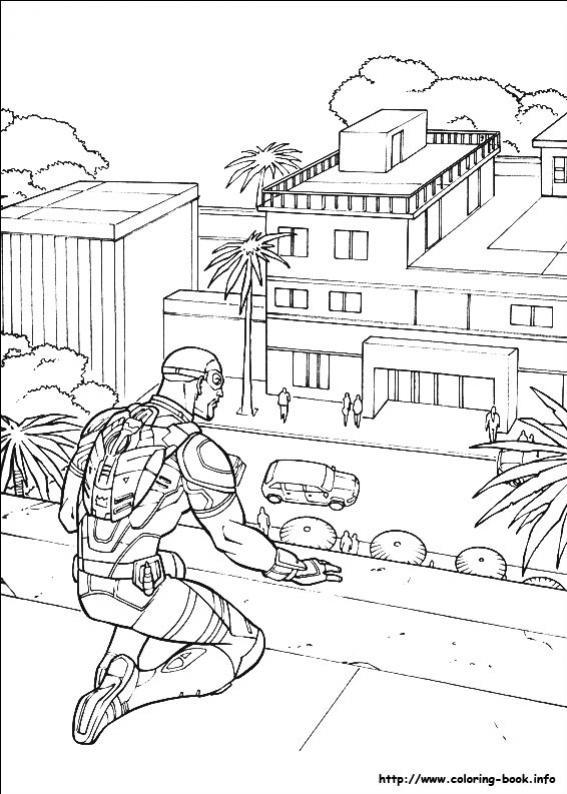 ภาพวาดระบายสีCaptain America 28
