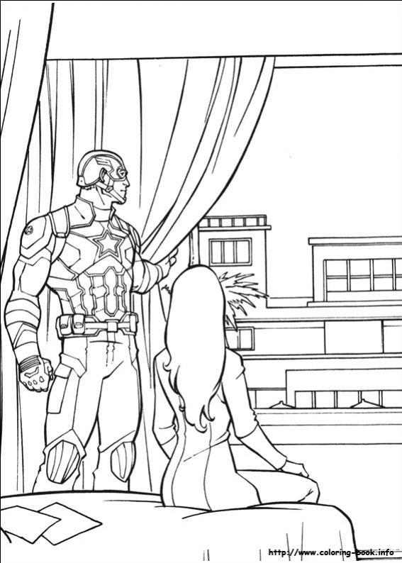 ภาพวาดระบายสีCaptain America 27