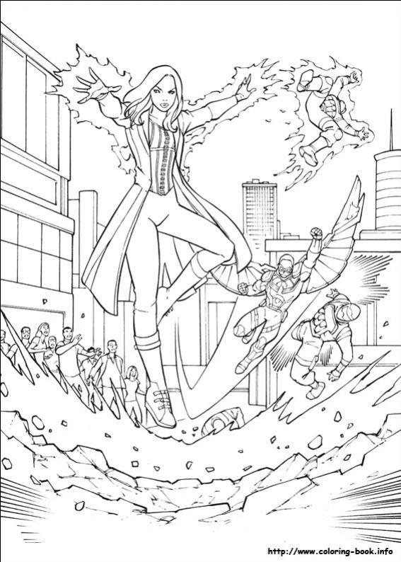 ภาพวาดระบายสีCaptain America 32
