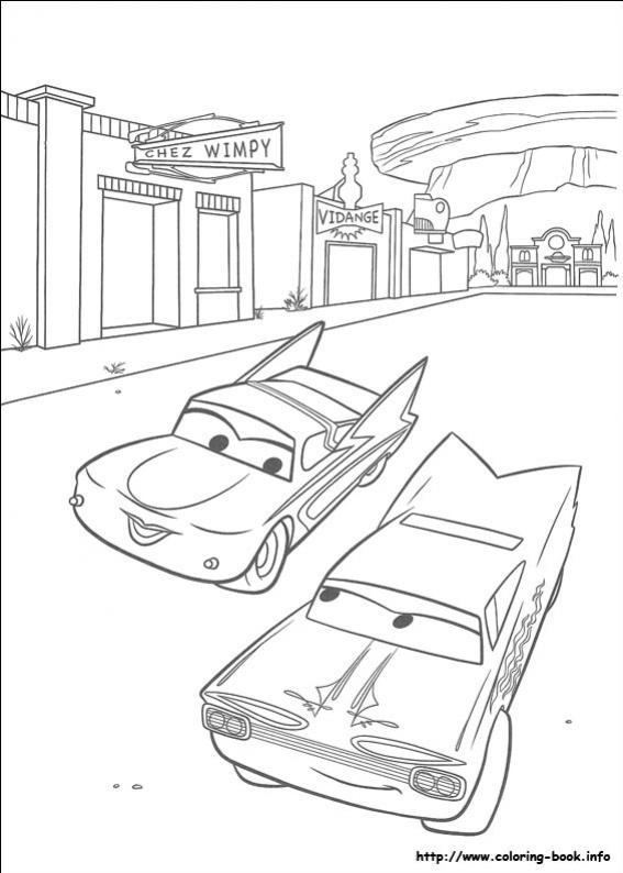 ภาพวาดระบายสีCars 08