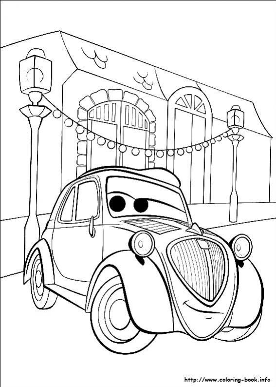 ภาพวาดระบายสีCars 43