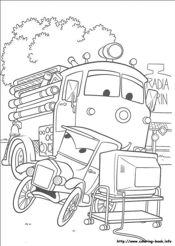 ภาพวาดระบายสีCars 14