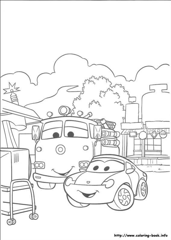 ภาพระบายสี Cars รถการ์ตูน ระบายสีรถ Cars 21