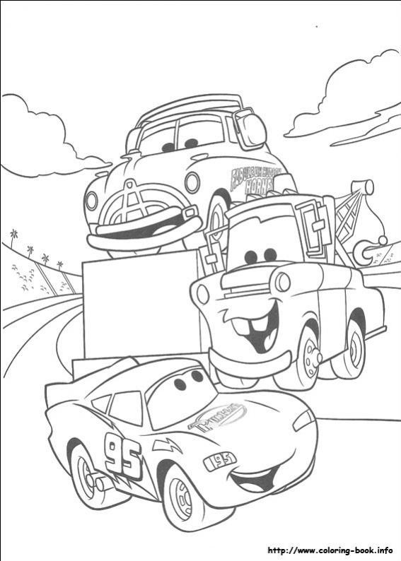 ภาพวาดระบายสีCars 19