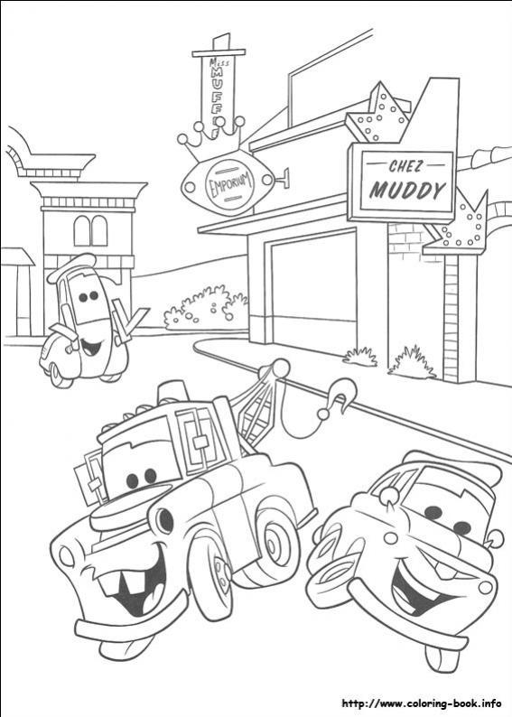 ภาพวาดระบายสีCars 04
