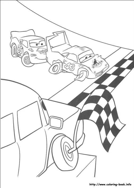 ภาพวาดระบายสีCars 30